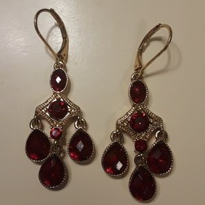 Ruby and Gold Earings